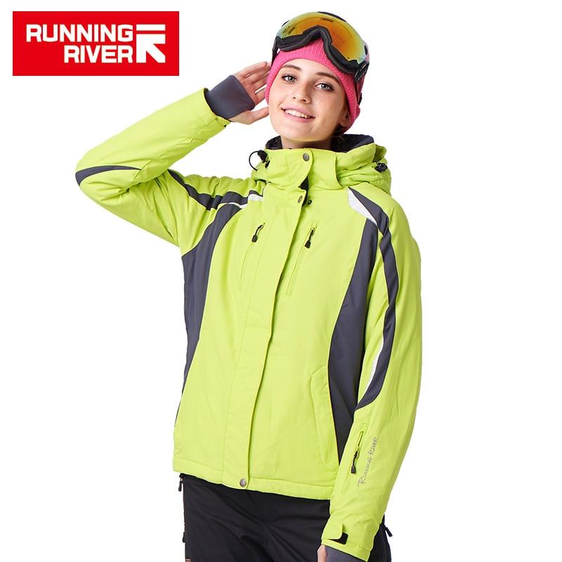 RUNNING RIVER Brand Ski Jacket Waterproof Women Ski Coat Warm Skiing Snow Jacket Hot Sale High Quality Women Ski Jackets #J1118