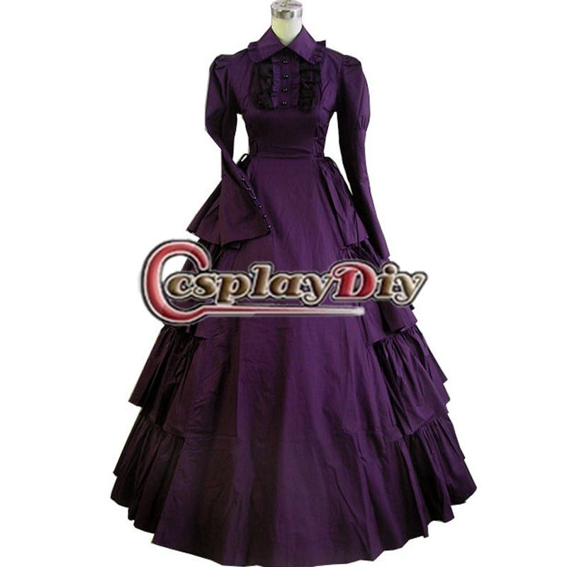 Gothic Victorian Dresses Halloween Costumes