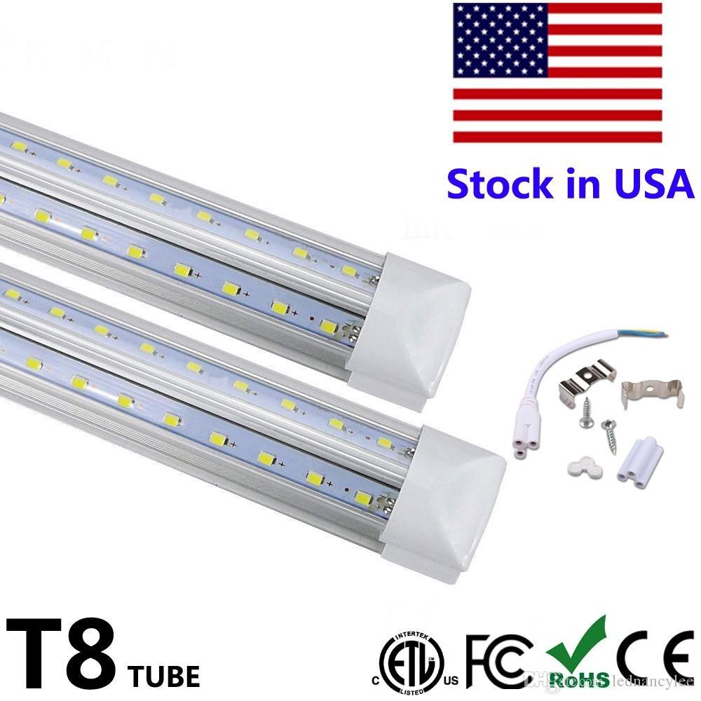Us 463 2 40 Off 50pcs Integrate T8 Led Fluorescent Lamp 4 Foot V Shape Led Tube 4ft 5ft 6ft 8ft Cooler Door Lighting Smd2835 100lm W Ac85 265v In