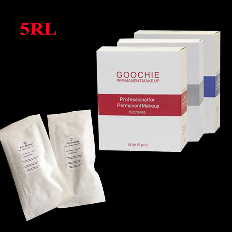 15 Pcs 1RL/3RL/5RL/5F Micro Needles For Goochie M8 Cartridge Needle Goochie Microblading For Goochie Permanent Makeup Machine