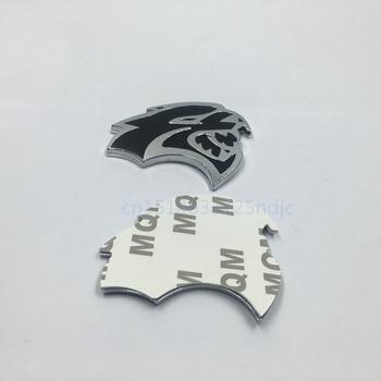1 زوج لعام 2008-2017 دودج تشالنجر SRT HELLCAT الحاجز شعار شارة ملصقات الجانب الأيمن الأيسر 2