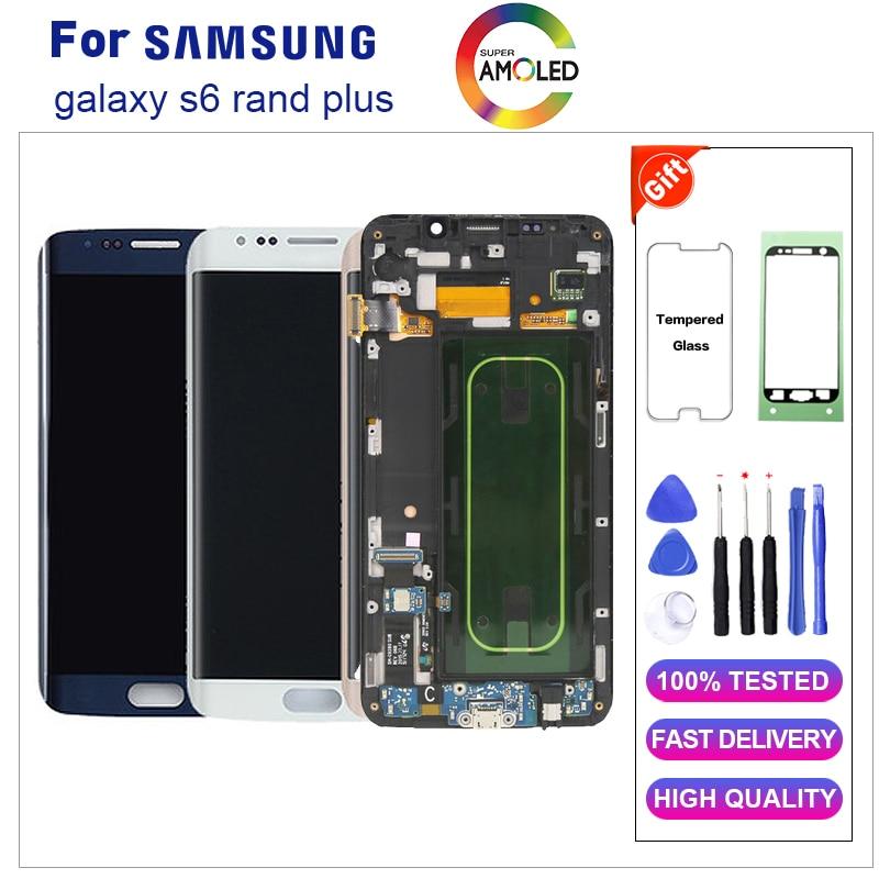 Super AMOLED S6 edge Plus G928F ЖК дисплей для samsung Galaxy S6 edge Plus ЖК дисплей Дисплей Сенсорный экран планшета в сборе с рамкой