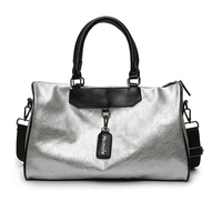 Women and Men Leather Travel Duffle Bags Waterproof Handbag Sport Gym Bag Large Capacity Outdoor Fitness Training Shoulder Bag