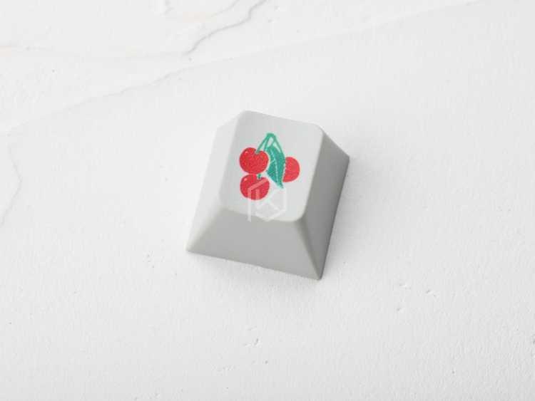 الجدة الكرز الشخصي pbt keycap للوحة المفاتيح الميكانيكية صبغ الفرعية الأساطير الكلاسيكية الكرز شعار أسود أحمر أخضر برتقالي أرجواني