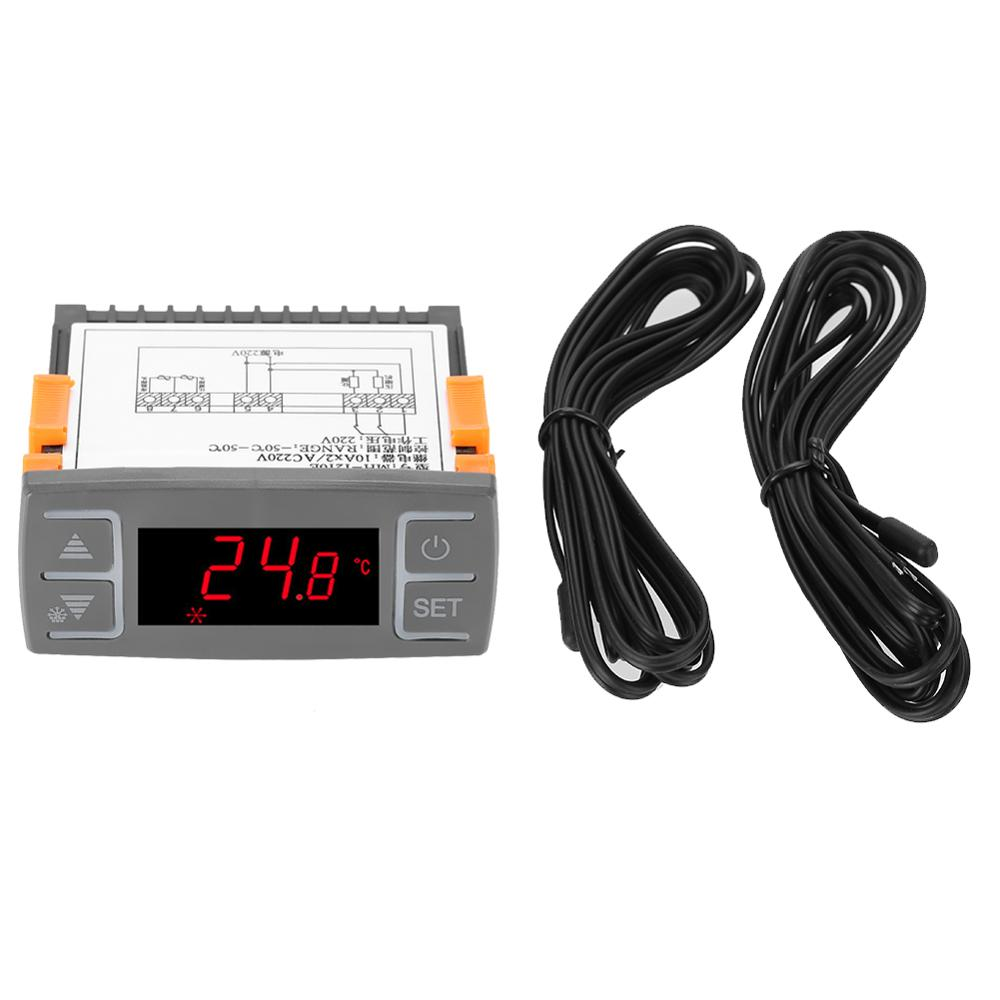 Digital MH1210E All-Purpose Temperature Controller Thermostat With NTC Sensor AC 220V