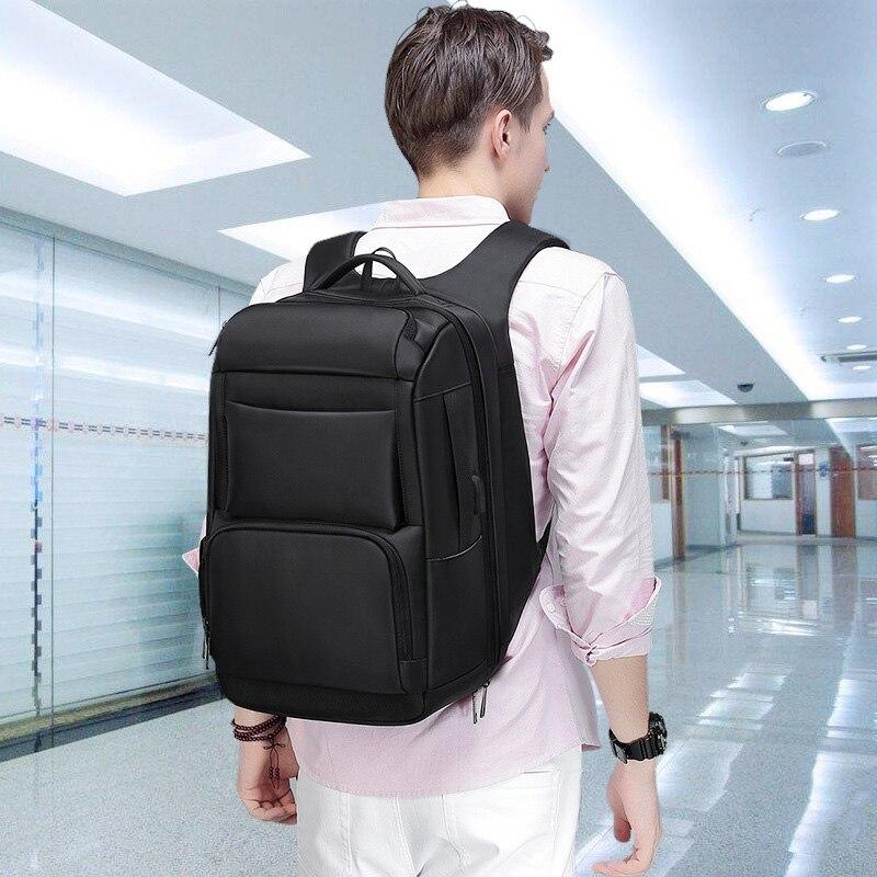Sac à dos de luxe pour hommes d'affaires pour voyage sacs à dos d'ordinateur portable de 17 pouces pour hommes sac à dos anti-vol sac à dos mâle usb cartable - 2