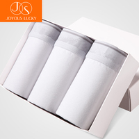 White Men S Underwear White Cotton Pants Cueca Summer Thin Boxer Men Section Breathable Sexy Young
