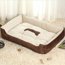 New Dog Bed Footprint Cotton Velvet Pet Nest Warm Fall And Winter House For Cat Supplies