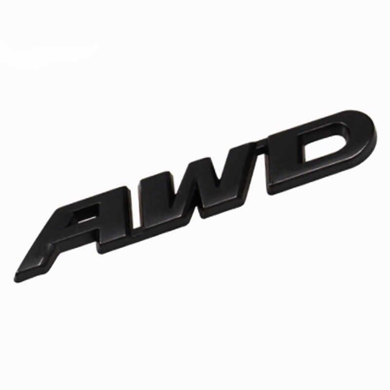 3D Car Styling Autoadesivo del Metallo AWD Emblema Distintivo Lato Posteriore Della Decalcomania 4WD 4X4 Logo per Off Road Porsche toyota Land Rover Jeep Benz BMW