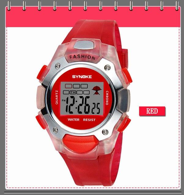 2018 Hot Sale Children Watch SYNOKE Multi-Function 30M Waterproof Watch LED Digital Double Action Watch Gifts