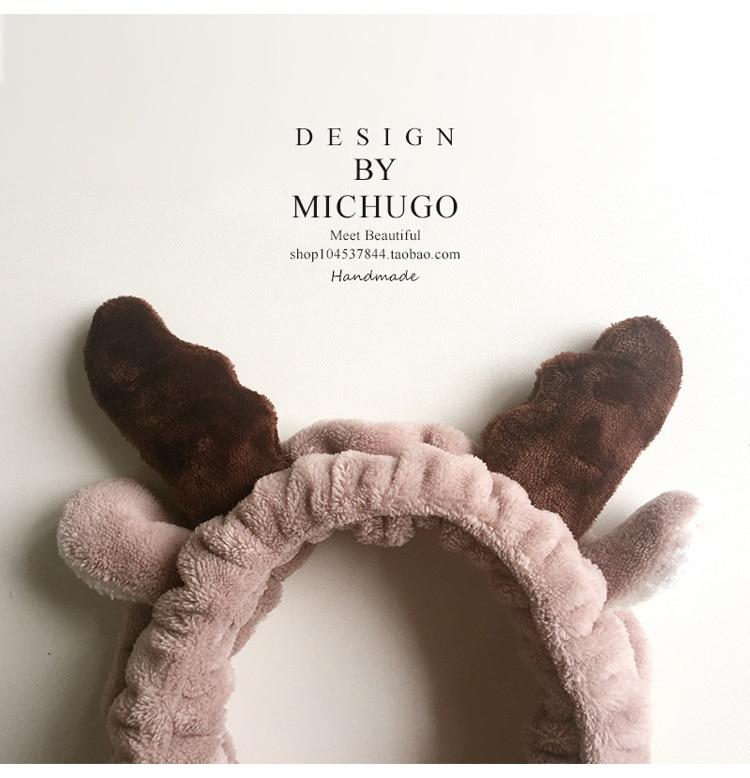 mīksts, jauks Ziemassvētku aļģu rags Matu josla sejas maska matu lente gudrs karikatūra Bērnu lentes Meitene Matu matu lentes extra Mazgāt seju