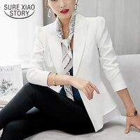 vadim2019 long sleeve jacket women fashion elegant black slim office work outwear women jackact womens jackets and coats 1345 90