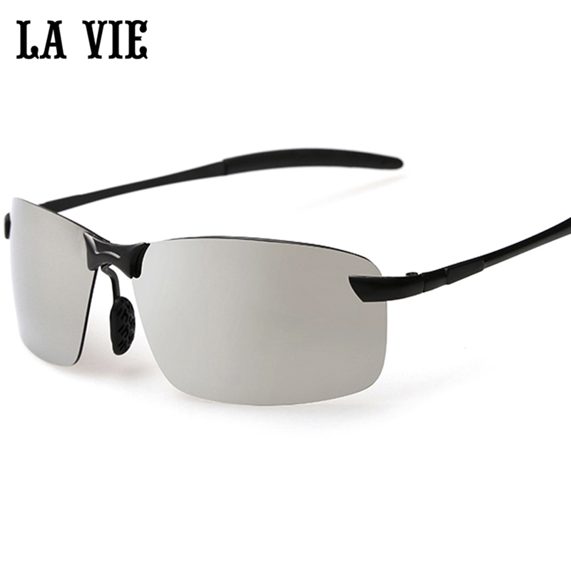 LA VIE Brand Rimless Polarized Sunglasses Men super Cool coating Driving Sun Glasses Oculos de sol lunette de soleil 2