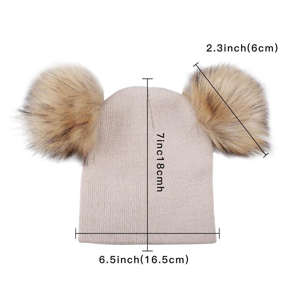 ed2b128d910 ... Knit Beanie Fur Pom Pom Bobble Hat Cap Winter Warm Hat 6M-5T.  HTB1aS1tXiDxK1RjSsphq6zHrpXaF. 2018-Children-Toddler-Kids-Baby-Warm-Winter- Wool- ...