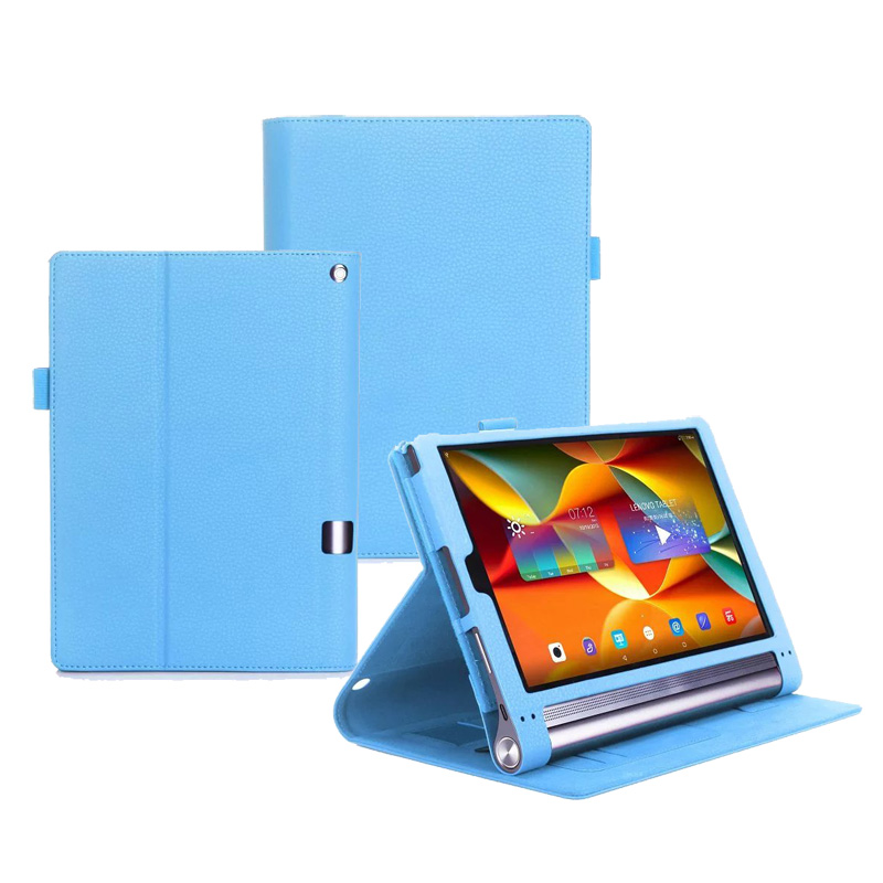 Prix pour De luxe Dragonne Couverture Pour Lenovo Yoga Tab3 Plus 10.1 Comprimés Flip Stand PU Cas W/Cartes Fente 20 PCS/Lot