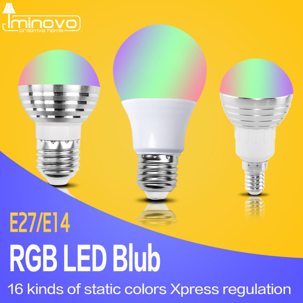 E27 E14 RGB LED Bulb Lamp 3W 5W 10W Color Magic Spot Light Remote Control Dimmable 24key LED Night Light 110V 220V Holiday Bar agm rgb led bulb lamp night light 3w 10w e27 luminaria dimmer 16 colors changeable 24 keys remote for home holiday decoration