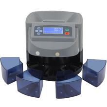 XD-9005 electronic Coin Sorter Can Separate The Euro /Dollar Coin Sorter With Clear Sensor With Auto Row Advancement 110v/220v