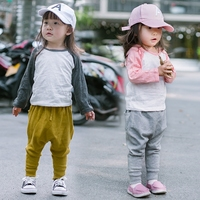 Baby Girls Pants Knitting Harem Trousers Bobo Choses Girls Clothes Tiny Cottons Boys Pants Spring 2018