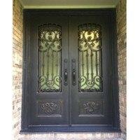 Передние железные ворота дизайн французские двери наружные кованые
