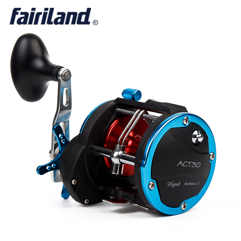 4BB RIGHT HAND 4.1:1 Fairiland Drum Trolling Reel 18Kg Drag Power Boat Fishing Reel 2 Colors (30A/B) Avail. Sea fishing tackle 4bb right hand 4 1 1 fairiland drum trolling reel 18kg drag power boat fishing reel 2 colors 30a b avail saltwater freshwater