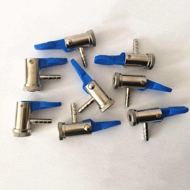 6mm 8mm samochodów Auto Moto opon zawór Inflator uchwyt czysta miedź typ uchwytu Inflator amerykański usta pompa pneumatyczna Adapter