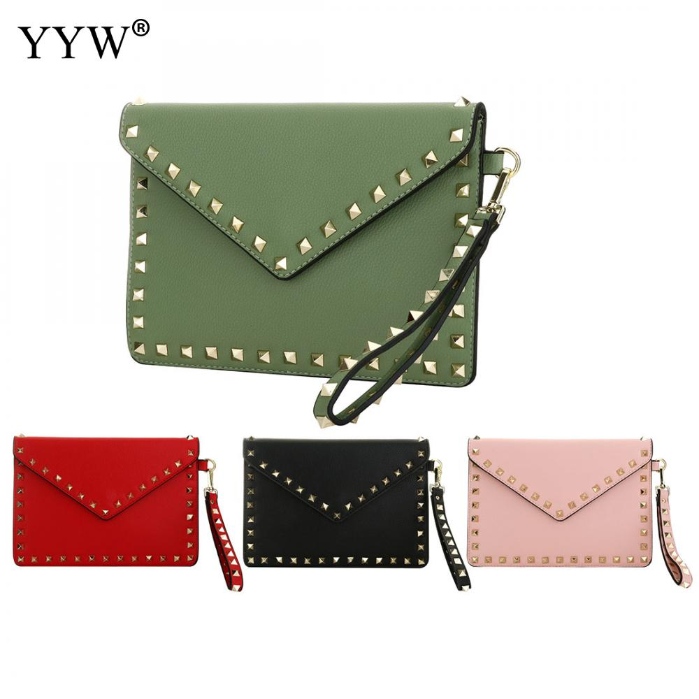 Fashion Green Women'S Clutch Bag Elegant Pu Leather Female Envelope Bag Clutch Evening Bag Female Clutches Mini Handbag Dropship
