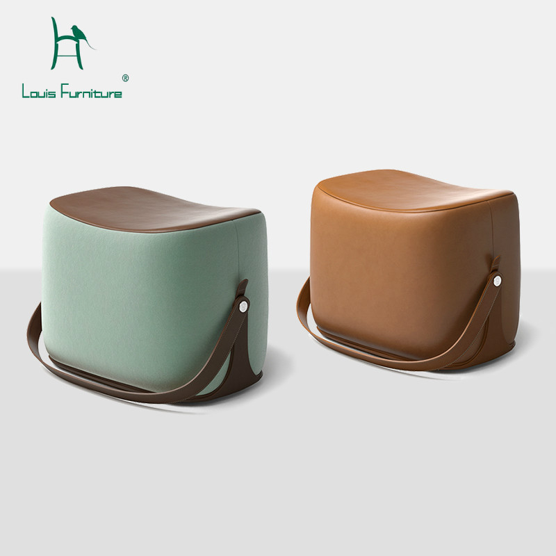 Furniture Living Room Furniture Louis Fashion Stools Ottomans Modern Simple Customized Nordic Pu Saddle Cloth For Shoes Creative Makeup Easy To Use