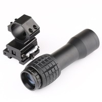 4X Magnifier Scope Compact Tactical Sight with Flip to 20mm Rifle Gun Rail Mount