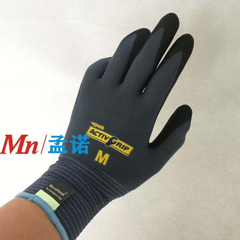 10 pairs Showa 720 Nitrile Gloves Waterproof High Grip Oil /& Chemical Gauntlet