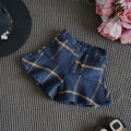Princess girl plaid England wool shorts ruffles bottom dance pants toddler girls pants kids shorts for children winter trousers