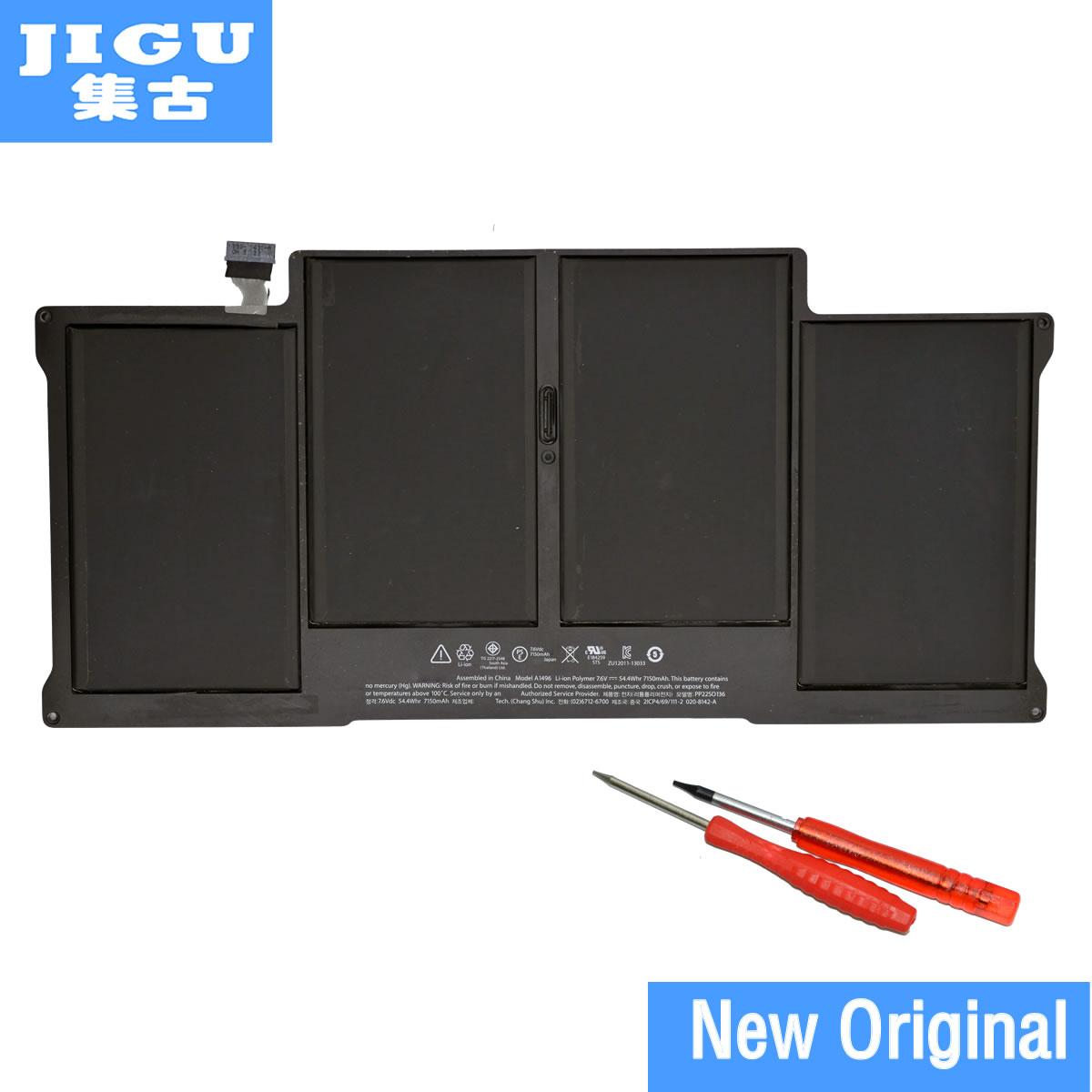 JIGU Бесплатная доставка A1496 оригинальный ноутбук Батарея для APPLE MacBook Air 13 A1466 2013/2014 MD760LL/MD761CH /7,6 В 7150 мАч