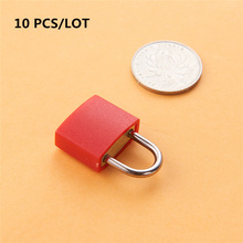 10 pcs NEW mini Coated Brass Locks for Travel Luggage Bag Backpack Zipper Suitcase Padlocks with 2 Keys Hardware Tool