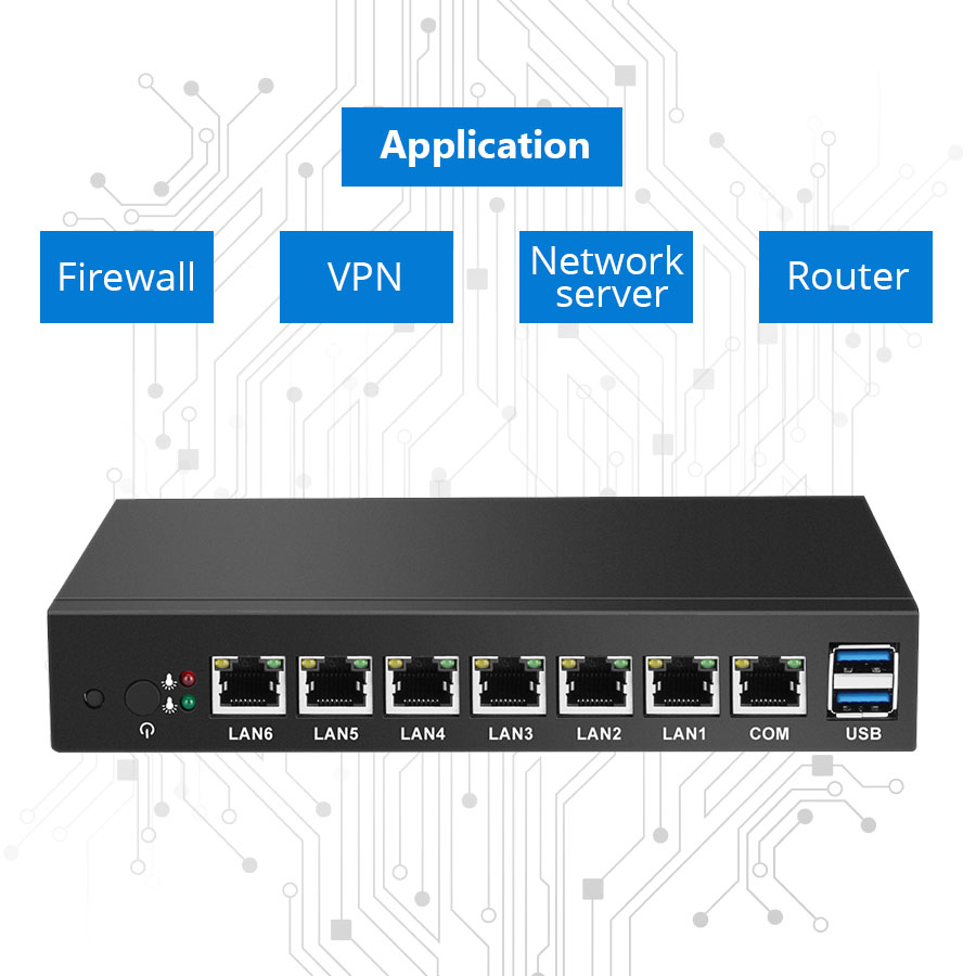 Mini PC as Router and Firewall with 6 Ethernet LAN for Industrial Monitors Supports Windows and Linux OS 2