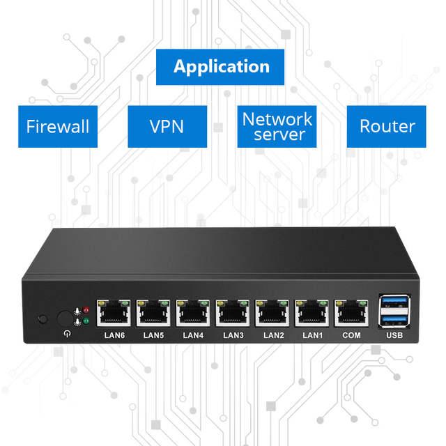 Mini PC Dual Core 6 Ethernet LAN Router Firewall Intel Celeron 1037U  pfSense Desktop Industrial Computer Windows 10 RJ45