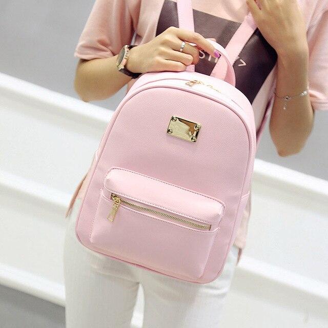 375543711b6a Women Backpack Small Size Black PU Leather Women s Backpacks Fashion ...