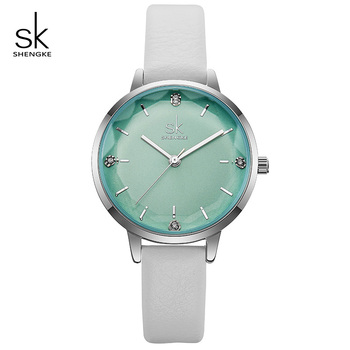 Shengke Watches Women Brand Fashion Leather Watches Reloj Mujer 2019 New SK Luxury Quartz Watch Women Clock Montre Femme #K8030 image