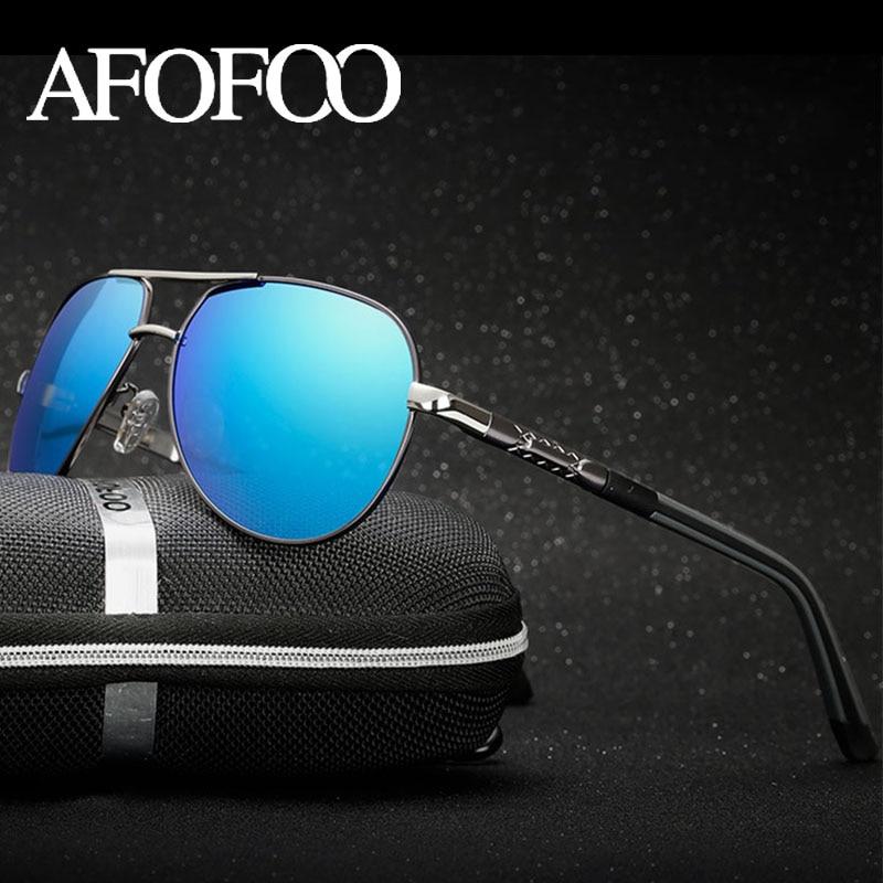 AFOFOO hombres polarizados gafas de sol Classic Brand Design hombres que conducen las gafas de sol UV400 sombras gafas de sol