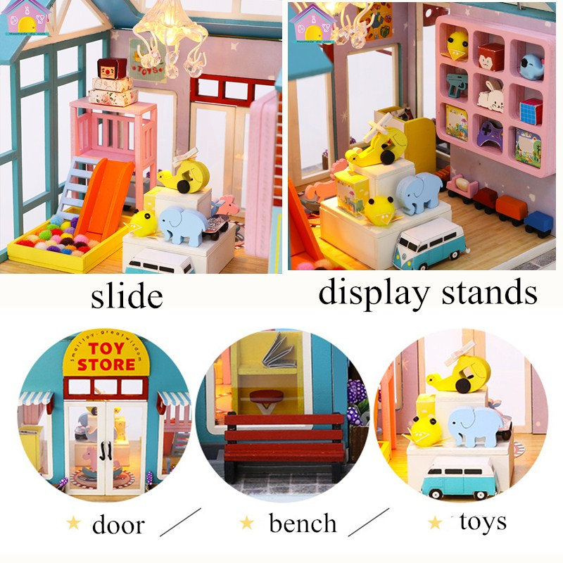 Children/'s Books Dollhouse Books Wooden Doll House Accessories Leaflet Nursery
