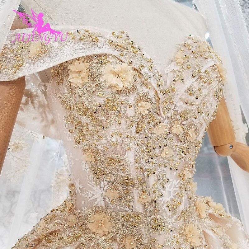 Image 2 - AIJINGYU Новые свадебные платья, платье принцессы с длинными рукавами, большие размеры, корсет, Тайвань, корейский стиль, удивительные свадебные платья, распродажаСвадебные платья    АлиЭкспресс