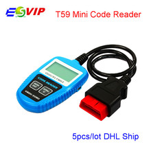 5pcs/DHL Mini Code Reader Leagend QUICKLYNKS Multi-language CAN OBDII Scanner T59 Handy Auto Diagnostic Tool OBD2 Code Scanner