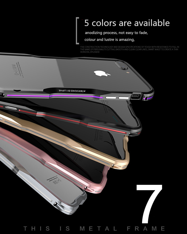 iPhone X 7 8 Plus Luphie Metal Bumper Aluminum Case (11)