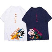 дешево!  Мужская футболка Dragon Z Ball Sun Wutian Стволы с принтом Футболка Harajuku Trends Свободный рисуно