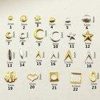 100Pcs/Lot Gold Silv...