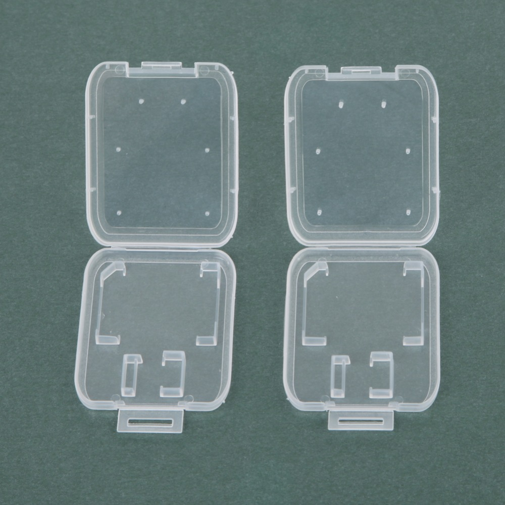 Practical 10PCS/set Transparent Carry Storage Box For SD Card Standard SD SDHC Memory Card Case Holder Protecting Box Storage