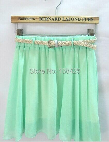 2015 Summer Chiffon Skirts Woman Pleated Short Girls Mini - Elin Trade Co.,Ltd store