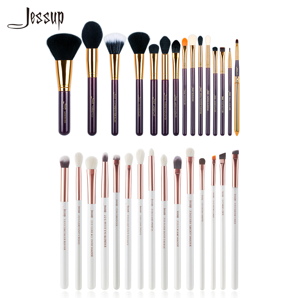 Jessup brushes Professional Makeup brushes sets Cosmetic tools beauty Make up Brush Powder Foundation Eyeshadow Eyeliner Lip 12pcs unicorn professional makeup brushes set beauty cosmetic eyeshadow lip powder face pinceis tools kabuki brush kits