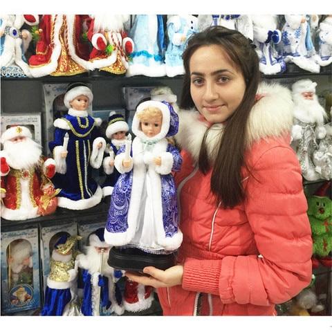 quente russo cantando boneca de donzela de neve para decoracao eletrica musical natal boneca neve