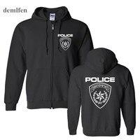 Mens Germany Ksk Norway Police Special Forces Hoodies Men Cotton Sweatshirt Coat Hooded