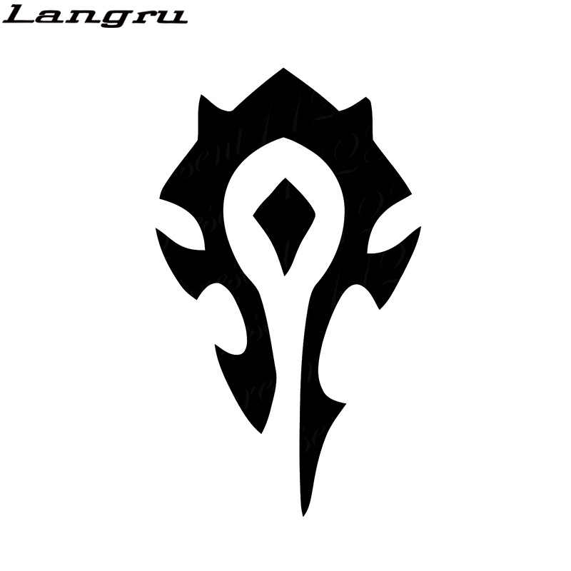 Langru Horde Wow Game Decal Sticker Vinyl Vehicle Car Motorcycle SUVs Bumper Laptop Car Styling Jdm