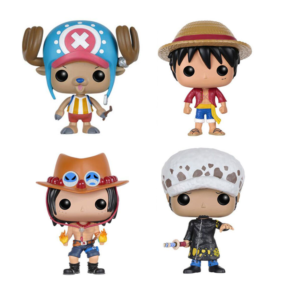 Anime <font><b>One</b></font> <font><b>Piece</b></font> <font><b>Luffy</b></font> & Chopper & ACE & Law Figure Vinyl Doll Collection Toys image